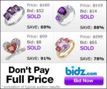 Bidz.com Display ad