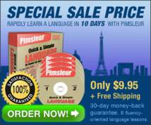 The Pimsleur Approach Banner ad