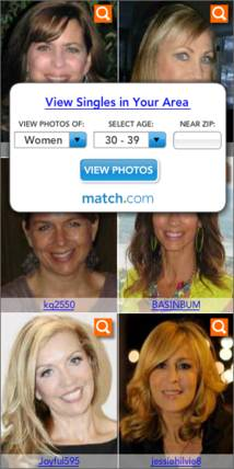 Match.com Display ad
