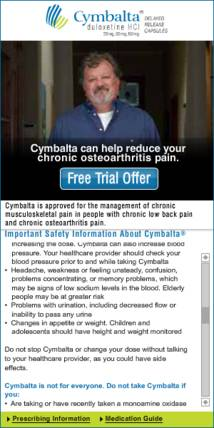 Cymbalta Display ad