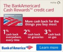 Bank Of America Display ad