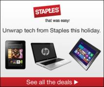 Staples Banner ad
