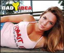 Bad Idea T-shirts Display ad