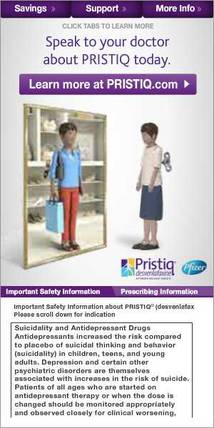 Pristiq Display ad