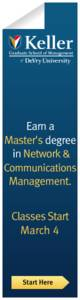Keller Graduate School Of Management Banner ad