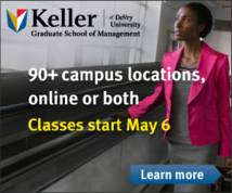 Keller Graduate School Of Management Display ad