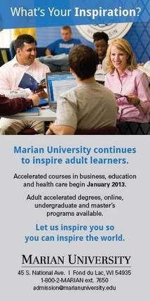 Marian University Display ad