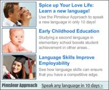 The Pimsleur Approach Display ad