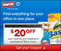 Staples Display ad