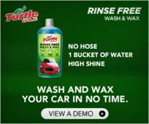 Turtle Wax Banner ad