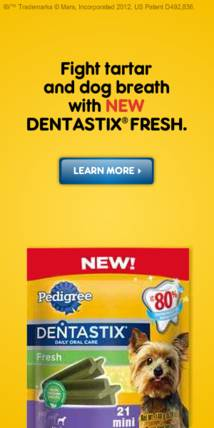 Pedigree Banner ad