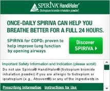 Spiriva HandiHaler Display ad