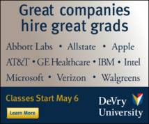 Devry University Display ad