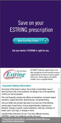 Estring Display ad