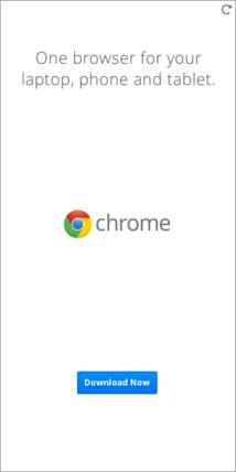 Google Chrome Banner ad