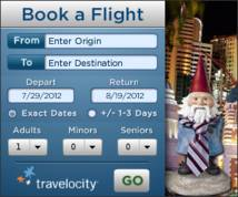 Travelocity Display ad