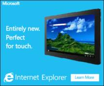 Internet Explorer Display ad